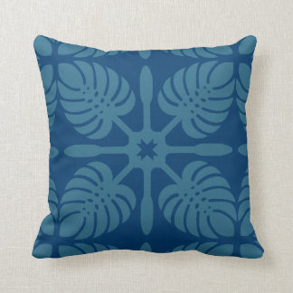 HAWAIIAN QUILT PILLOW- Monstera Throw Pillow