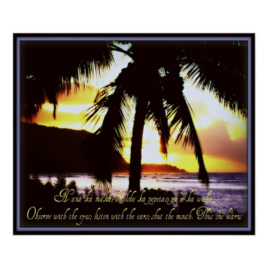 Hawaiian Quote Poster
