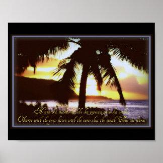 Hawaiian quotes Poster