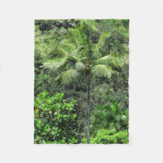 Hawaiian Rainforest Fleece Blanket