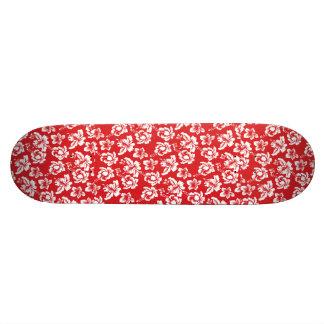 Hawaiian Red Flower Skateboard Deck