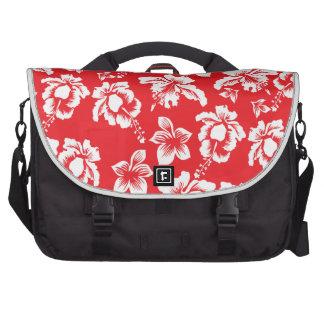Hawaiian Red Flowers Laptop Bags