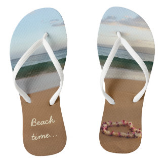 Hawaiian Sand Beach Time Flip Flops