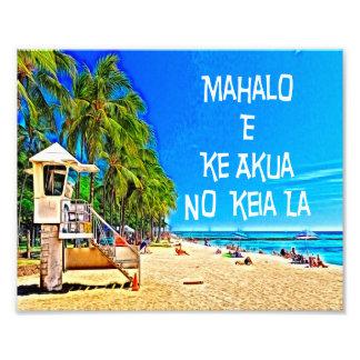 Hawaiian Saying Mahalo E Ke Akua No Keia La Wall A Photo Art