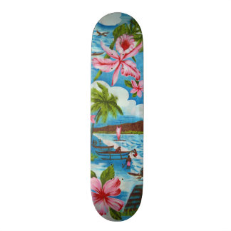 Hawaiian Scenes Skateboard