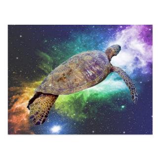 Hawaiian sea turtle art prints postcard
