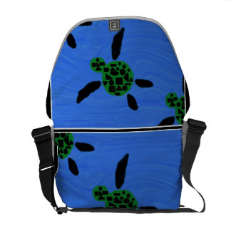 Hawaiian Style Sea Turtle Messenger Bag