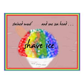 Hawaiian Style Shave Ice - Rainbow Flavor Postcard