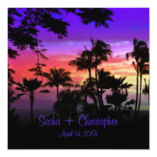 Hawaiian Sunset at  Kāʻanapali Beach Card