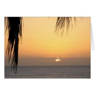 Hawaiian Sunset Blank Card