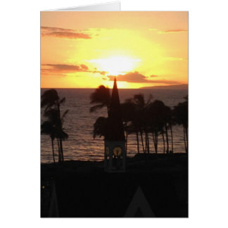 Hawaiian Sunset Card