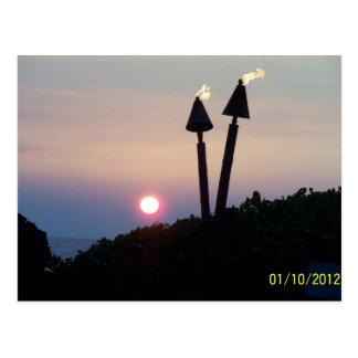 Hawaiian Sunset Luau Gifts Postcard