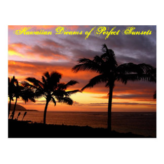 Hawaiian Sunset Postcard - Customized