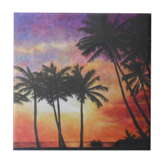 """Hawaiian Sunset"" Tile"