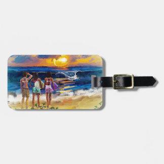 Hawaiian Surf Girls Luggage Tag