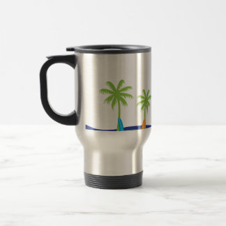 Hawaiian Surf Stainless Steel Travel Mug
