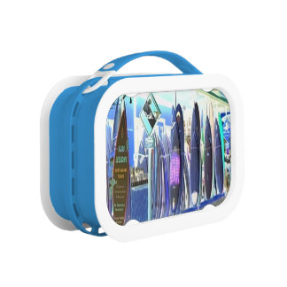 Hawaiian Surfboards inverted design Lunch Box