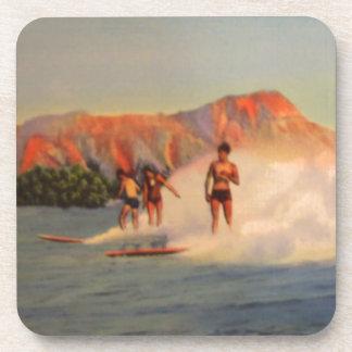 Hawaiian Surfer Gifts Coaster