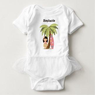 Hawaiian Surfer Girl Baby Bodysuit