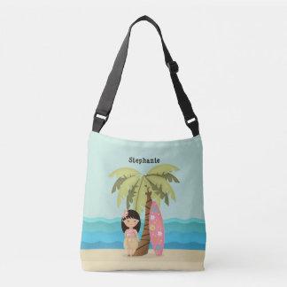 Hawaiian Surfer Girl Crossbody Bag