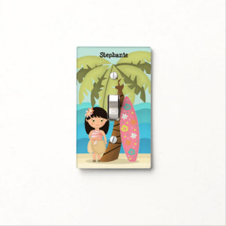Hawaiian Surfer Girl Light Switch Cover