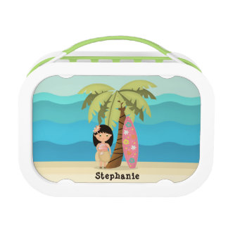 Hawaiian Surfer Girl Lunch Box