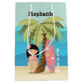 Hawaiian Surfer Girl Medium Gift Bag