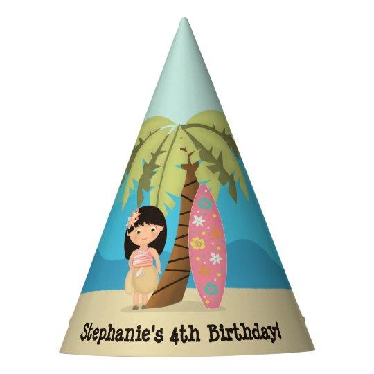 Hawaiian Surfer Girl Party Hat