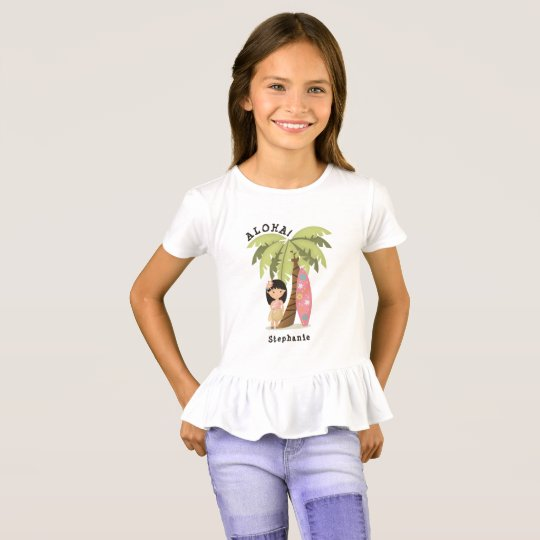 Hawaiian Surfer Girl T-Shirt