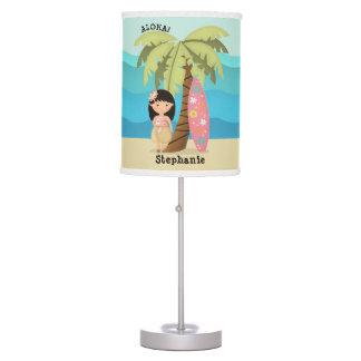 Hawaiian Surfer Girl Table Lamp