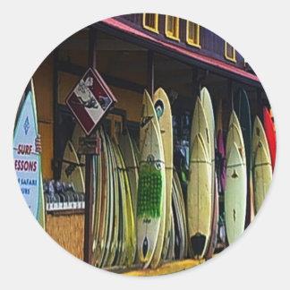 Hawaiian Surfers Sticker
