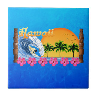 Hawaiian Surfing Tile