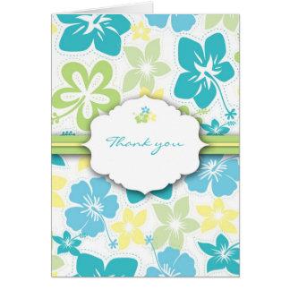 Hawaiian Thank you Notes Bridal or Birthday