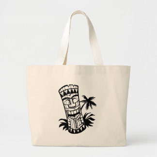 HAWAIIAN TIKI BAR ART LARGE TOTE BAG
