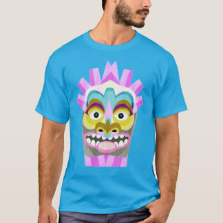 Hawaiian Tiki Blue and Purple T-Shirt