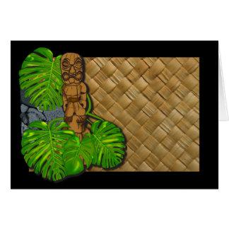 Hawaiian Tiki Lauhala Card