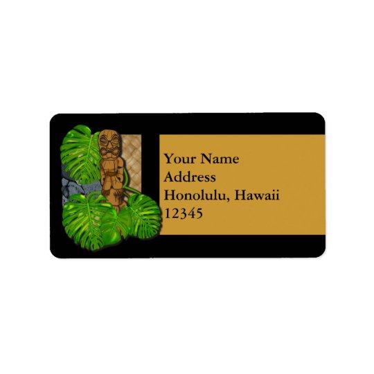 Hawaiian Tiki Lauhala Label