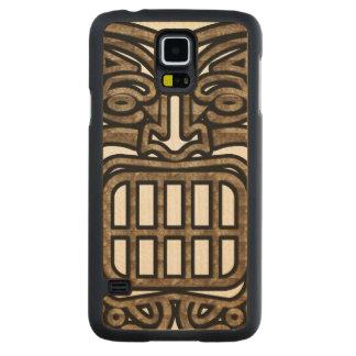 Hawaiian Tiki Mask Carved Maple Galaxy S5 Case