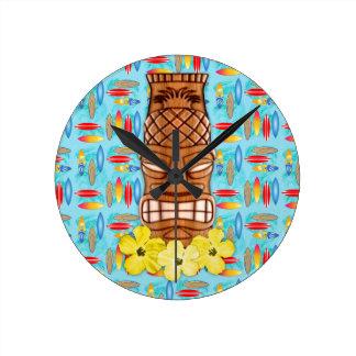 Hawaiian Tiki Mask Clocks