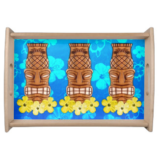 Hawaiian Tiki Mask Serving Tray