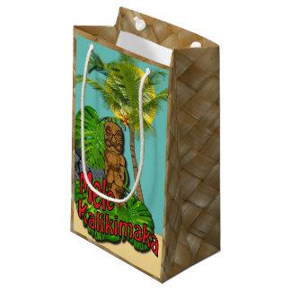 Hawaiian Tiki Mele Kalikimaka Christmas Day Small Small Gift Bag