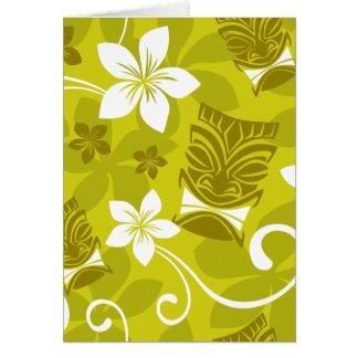 Hawaiian Tiki Pattern Note Cards