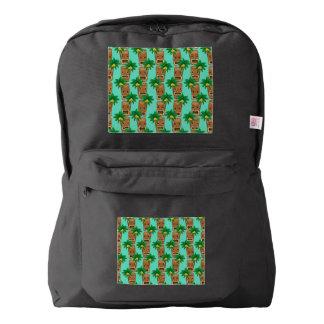 Hawaiian Tiki Repeat Pattern Backpack