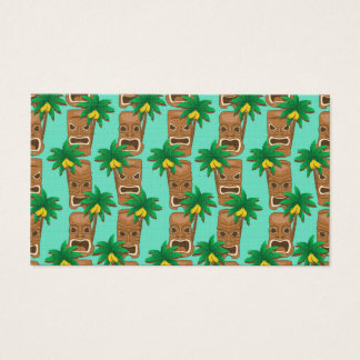 Hawaiian Tiki Repeat Pattern Business Card