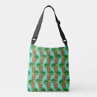 Hawaiian Tiki Repeat Pattern Crossbody Bag