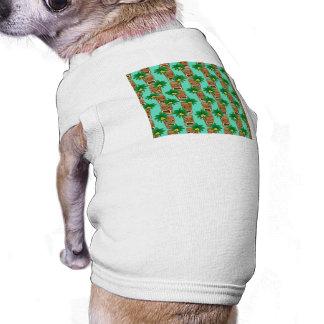 Hawaiian Tiki Repeat Pattern Doggie T-shirt