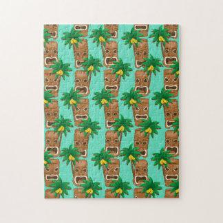 Hawaiian Tiki Repeat Pattern Jigsaw Puzzle