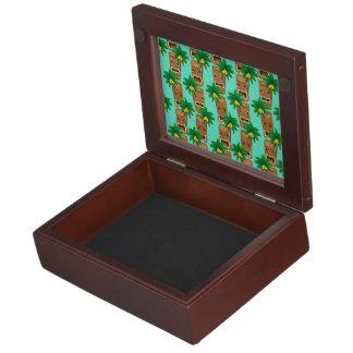 Hawaiian Tiki Repeat Pattern Memory Boxes