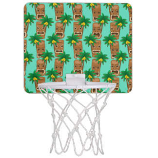 Hawaiian Tiki Repeat Pattern Mini Basketball Hoop
