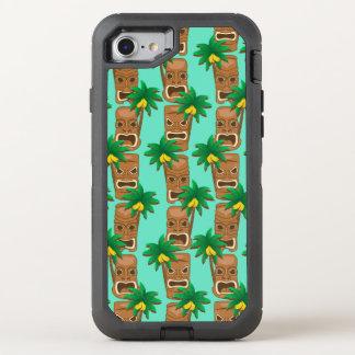 Hawaiian Tiki Repeat Pattern OtterBox Defender iPhone 8/7 Case
